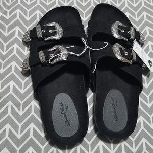 b555307dad09 Universal Thread Shoes - Bari Two Band Western Buckle Sandal